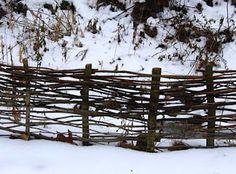 diy twig fence