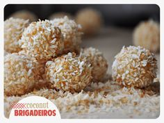 Coconut Brigadeiros from @Katie Hrubec Vitucci / The Parsley Thief! I need these in my life!