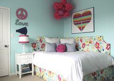 Big Girl Room with DIY Headboard