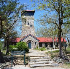 Cheaha State Park Observation Tower, Alabama's Highest Point.  Visited and climbed on 4/9/12.