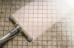 Tired of cleaning grout by hand? Learn how to clean grout the right way! How to clean grout, clean grout, grout cleaning, cleaning grout and tile, tile and grout cleaning