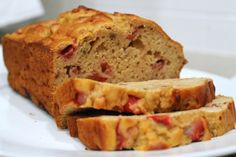 Greek Yogurt Strawberry Banana Bread….Healthy and Delicious! (good recipe base to make without strawberries and use nuts instead, like nana)