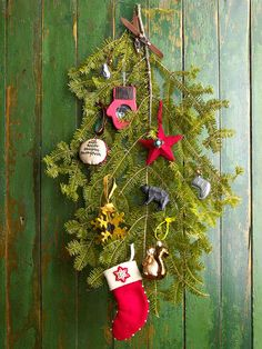 instead of the traditional wreath