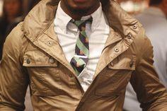 Men's Style / #tie #shirt #jacket