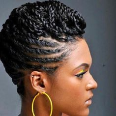 African American Cornrow Hairstyles with Twist