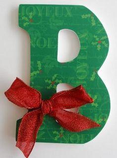 christma letter, decorative wooden letters, christma decor, monogram christma, christmas gifts