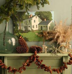 holiday, decorating ideas, christmas decorations, hous, garlands, mantl, design, pinecon garland, diy christmas