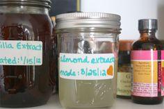 Homemade almond extract