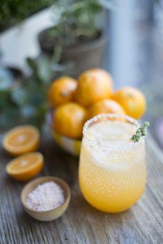 sunny winter citrus cocktail