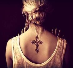 cover up, tattoo ideas, celtic crosses, beautiful cross tattoos, back tattoos, tattoo ink, design, white ink, beauti cross