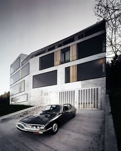 Vintage car and architecture