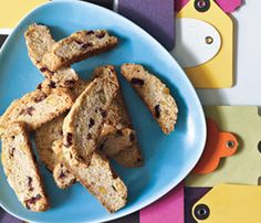 Holiday Dessert Recipes: Cranberry-Pistachio Biscotti. For chewy texture, undercook the biscotti slightly in the second baking. #SelfMagazine