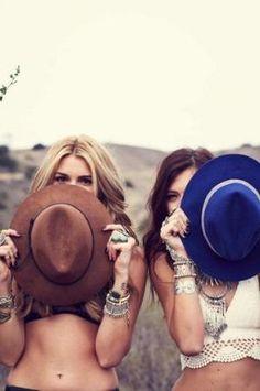 On the Spot Hat and Daisy Crochet Bikini Top by lucinda