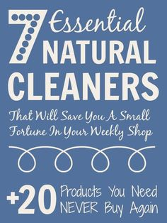 7 essential natural cleaners that will save you BIG money in your weekly shop @Mums make lists ... #housework #cleaning #thrift