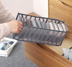 STAY AWAY FROM THE HASSLE OF SORTING and ORGANIZING YOUR UNDERWEAR   No matter how you fold, roll, stuff, and stack, you just can't seem to get your closet or dresser to stay tidy. The fact is that most drawers and closets are not designed for efficient organization.  Our Underwear Storage Box Compartment allows you to neatly and easily store your socks, bras, t-shirts, scarves, accessories, and any other stubborn pieces that would otherwise end up in messy piles, so you can save time and save s