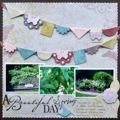 A Beautiful Spring Day Scrapbook Layout Idea using Creative Memories    http://www.creativememories.com
