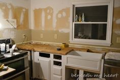 L shaped butcher block countertops IKEA Butcher Block Countertop {Answers to your questions}   Beneath My Heart