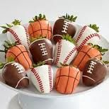 Chocolate Covered Sportsberries! Will be making these for the hub bub on game night!