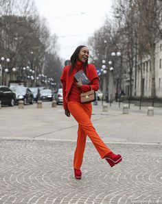 Kick your keels up for red I say. Commitment @Lee Semel Oliveira caught this nugget at #MFW