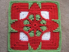 Holiday Ornament Afghan Square ~ free pattern ᛡ