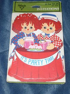 1974 Raggedy Ann and Andy Party Invitations.... @Jesica Williams Graham