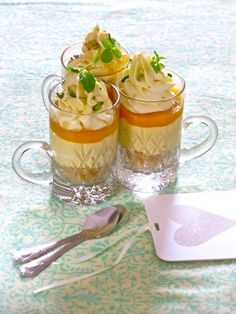 Eggless, No Bake, Mini Mango Cheesecakes
