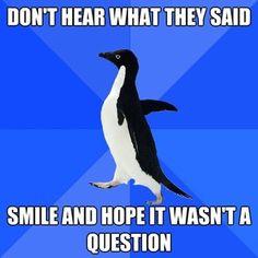 hearing aids, awkward moments, life, laugh, awkward penguin, funni, relat post, smile, social awkward