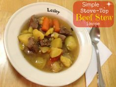 Simple Homemade Beef Stew Recipe on the Stove-Top
