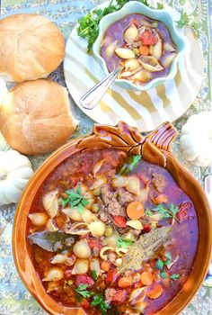 Hamburger soup: I do not have a fondness for large size pasta.,,would replace with smaller...but looks tasty.