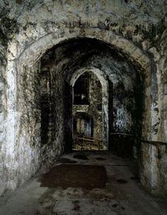 Medieval tunnels Dover Castle, Kent, UK.