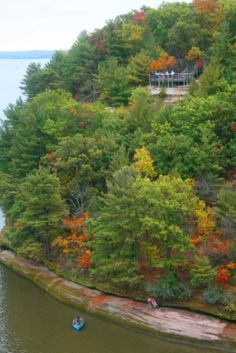 Lovers Leap at Starved Rock State Park in Utica, IL.   Photo by: Kathy Casstevens-Jasiek of Starved Rock Lodge