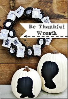 Create your own thankful wreath