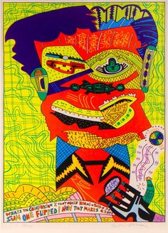 Karl Wirsum  Whatsthe Coinfusion I Can't Make Heads or Tails of It? SumOne Flipped!Now That Makes Cents.,1974  Colorscreenprint  Edition15/11530 x 22inches