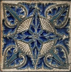 A tile from 23 Black Prince Rd. London, where Royal Doulton's offices were originally located.