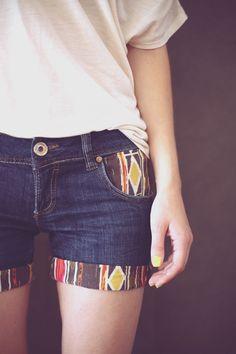 diy denime shorts