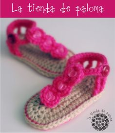 Crochet baby sandals - Baby booties - Baby shoes - Baby sandals - Baby gladiator sandals. $18.00, via Etsy.