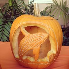 A whale from our office pumpkin carving contest. Happy Halloween!