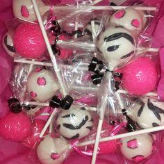 Hot Pink  Zebra Cake Pops