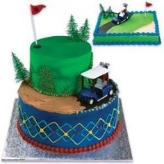 cupcak, golf courses, golf cakes, golf carts, golf lover