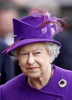 The Queen does Purple