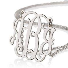 .925 monogram necklace