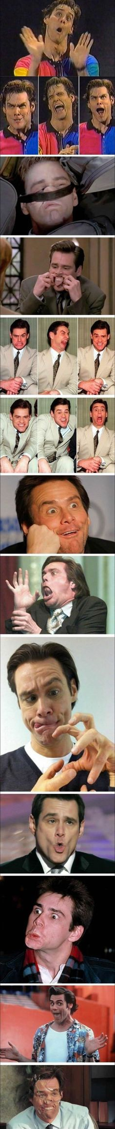 All the faces of Jim Carrey