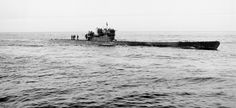 The U-190, a German U-boat, which was surrendered to the Canadian navy in 1945 and later commissioned as HMCS U190, one of Canada's first naval submarines.