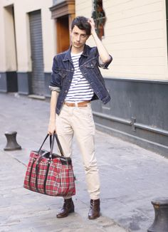 crewneck tshirt, stripe crewneck, khaki chino, chelsea boots, man swag, leather belts, de style, navi denim, leather chelsea