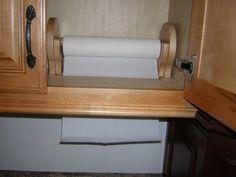 built-in paper towel holder
