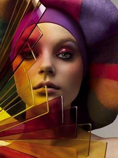 Coloured Head