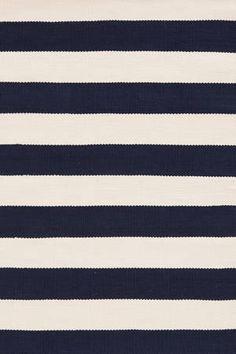 navy striped rug