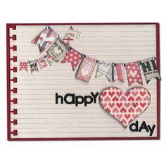 card idea, birthday, valentine day, heart banner, banner heart, valentine cards, happy heart, crafti card, valentin banner