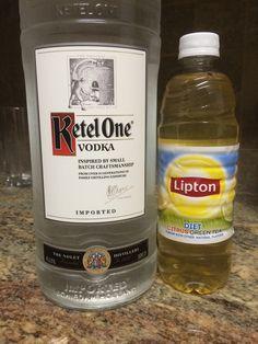Vodka & Lipton Diet Green Tea <3 my summer drink