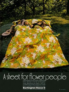 Sheet for Flower People, 1970 ~